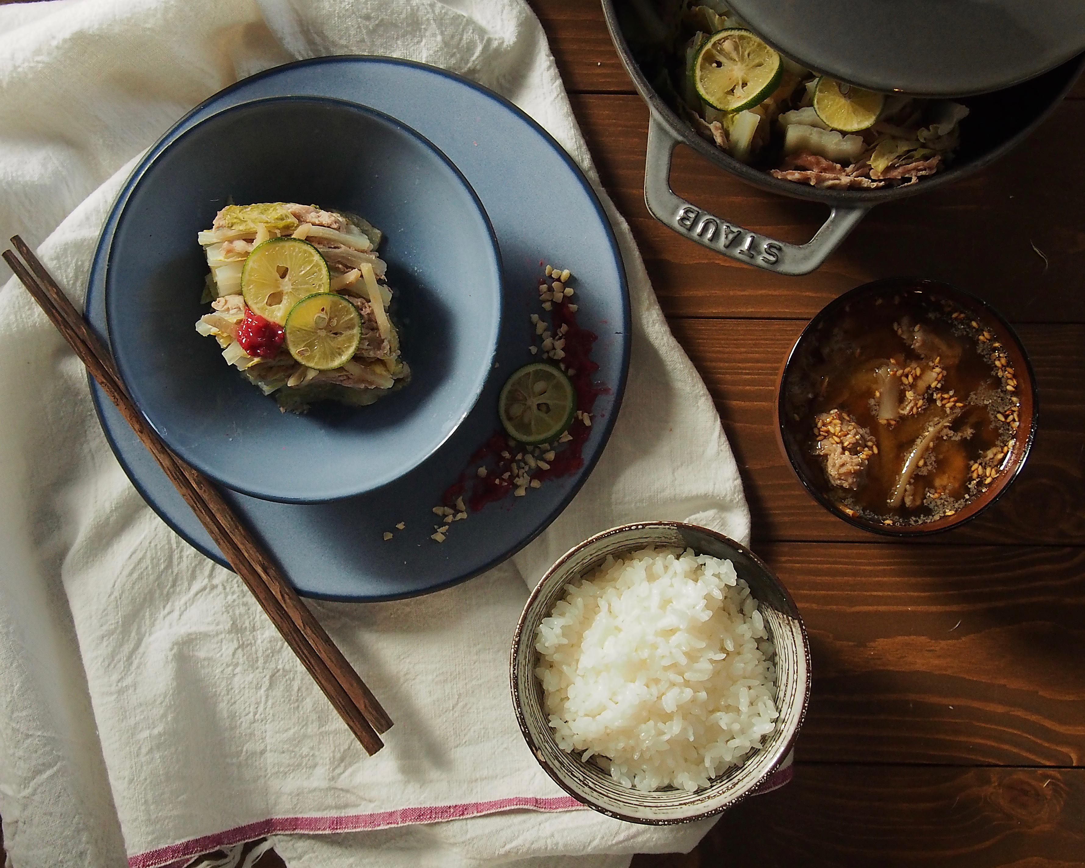 白菜と豚肉ミルフィーユ煮アップ