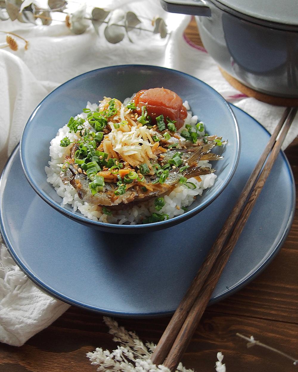 いわしの梅煮丼2