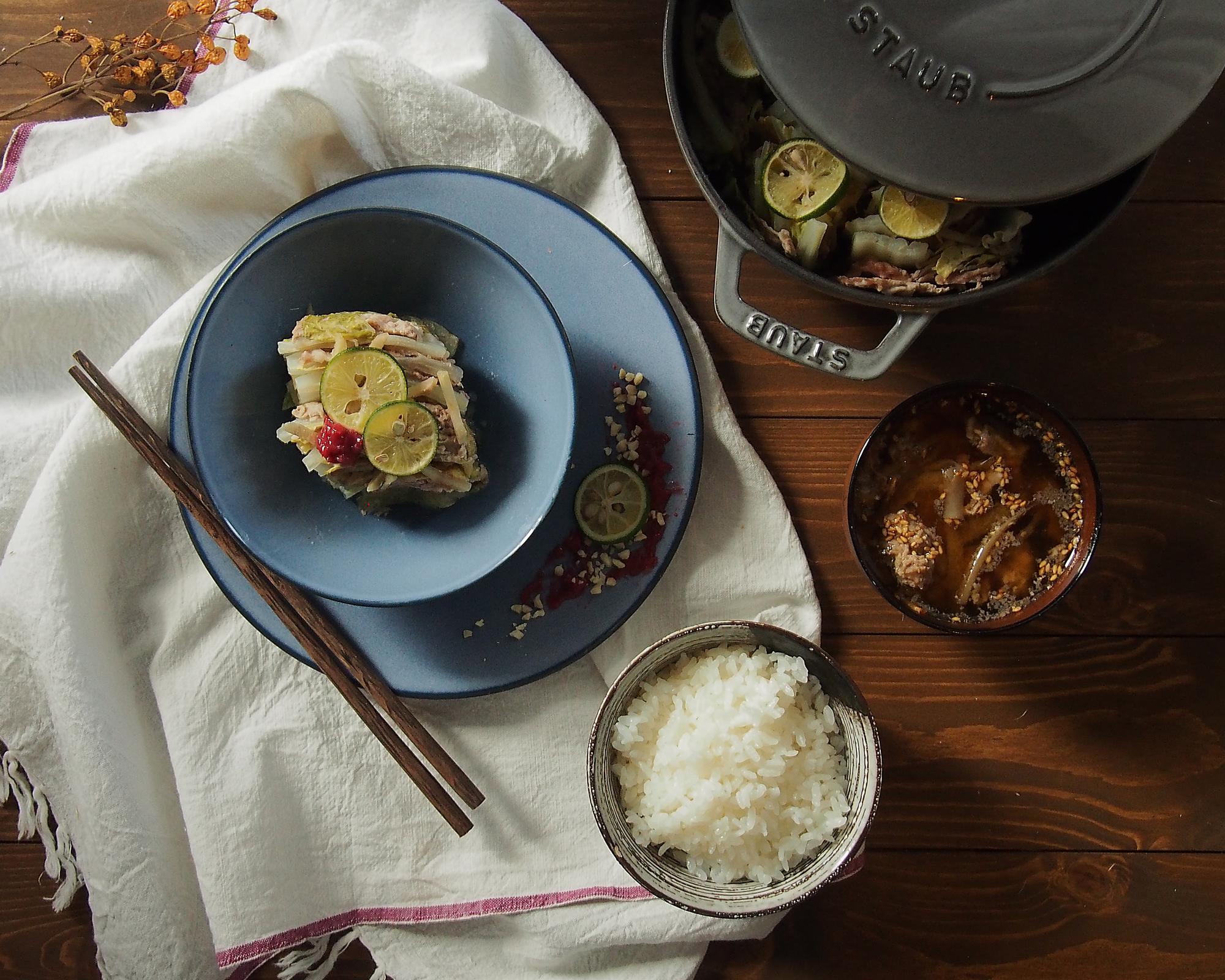 白菜と豚肉のミルフィーユ煮ひき2