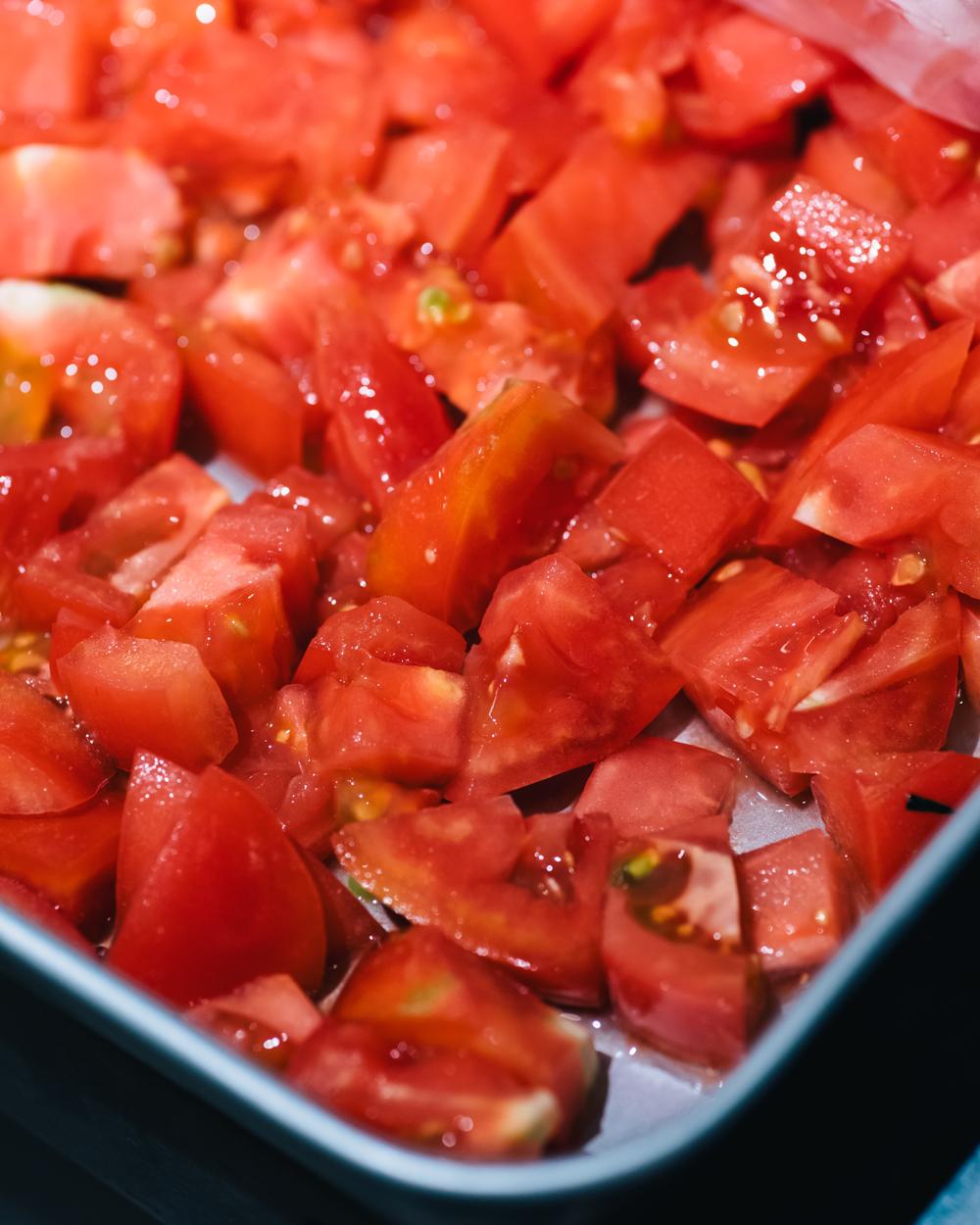 角切りトマト